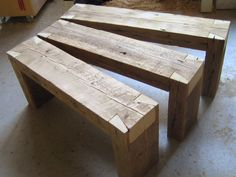 Dovetailed benches