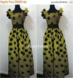 VENTE robe Maxi imprimer africaine par JENNYROSSY sur Etsy