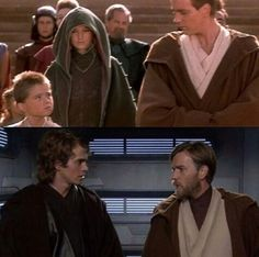 Anakin Skywalker & Obi-Wan Kenobi: before and after