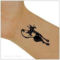 Temporary Tattoo 1 Cat Wrist Tattoos