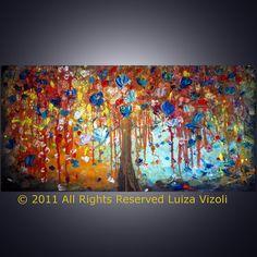 Original Abstract Large Modern Fantasy Tree by LUIZAVIZOLI on Etsy, $399.00