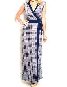 Sleeveless+Geo+Print+Wrap+Maxi+Dress