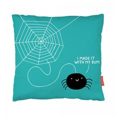 £29.95 Disclaimer: some cushions will feature a beige back. Make a statement! This awesome cushion forms part of our collection of quirky illustrated homeware designed by Gemma Correll.  Our cushions are Vegan, yes we know that you have no plans to eat them, but we just wanted to assure you they contain nothing harmful to animals. They're made from super soft faux suede and come complete with a fibre insert.  Details: They measure 43x43cm a smashing size (contains 50x50cm insert to keep it…