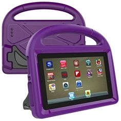 Ounice for Amazon Kindle Fire HD 8 Case, Kids Cute EVA Safe Rubber Case Drop Proof ShockProof Case with Hidden Stand Case Cover for Amazon Kindle Fire HD 8 2017 7th (Purple) #Ounice #Amazon #Kindle #Fire #Case, #Kids #Cute #Safe #Rubber #Case #Drop #Proof #ShockProof #with #Hidden #Stand #Cover #(Purple)