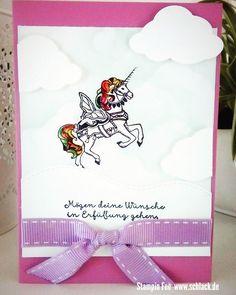 """stampin unicorn birthday Card stamp stempel  set """" carousel Birthday """"  Einhorn Geburtstag"""