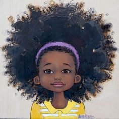 Absolutely stunning black hair art pictures ranging from natural hair to locs and braids. The talented African American artist have some incredible work. Black Girl Art, Black Women Art, Art Girl, Black Girls, African American Artist, African Art, Natural Hair Art, Natural Hair Styles, Art Afro Au Naturel