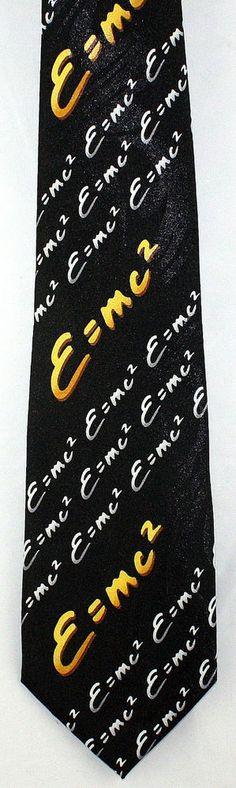 New E=MC2 Mens Necktie Albert Einstein Physicist Science Scientist Neck Tie #StevenHarris #NeckTie