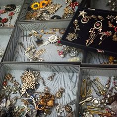 Jewellery backstage at Alexander McQueen London Fashion Weekend
