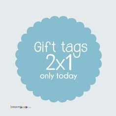 Gift tags🎁2x1🍭Buy 1 Get 2🍭only today!👏👏