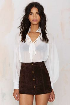 Capulet Isabella Suede Mini Skirt