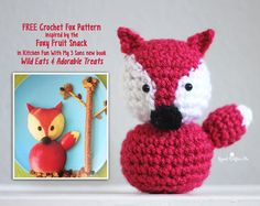 Wild Eats & Adorable Treats Book Review, Giveaway, and Inspired Crochet Fox Pattern - Repeat Crafter Me