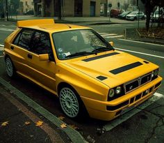 Maserati, Dream Cars, Hatchback Cars, Lancia Delta, Yellow Car, Top Cars, Car Tuning, Performance Cars, Rally Car