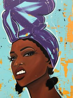 Browse all products from Tyra Powers Art. Black Love Art, Black Girl Art, Black Girls Drawing, African American Art, African Art, Art Noir, Black Girl Cartoon, Arte Black, Black Art Pictures