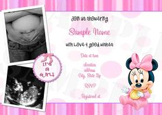 Baby Minnie Mouse Baby Shower Invitations Choose your color scheme