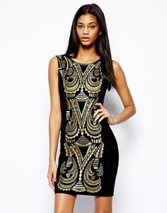 Black Embroidered Party Dress by Forever Unique. Buy for $68 from Asos