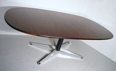 Robin Day rosewood chrome dining boardroom table Audley mid century modern