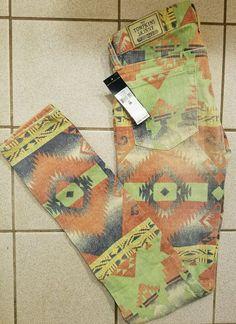 NWT Polo Ralph Lauren Southwestern Aztec Navajo Tompkins Skinny W 26 Jeans   198  RalphLauren   60c8c6b0cbf8f