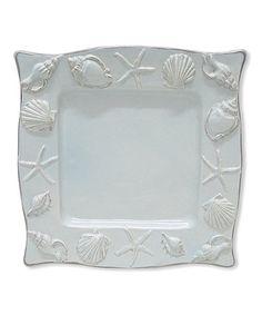 Blue Seashell Plate #zulily #zulilyfinds