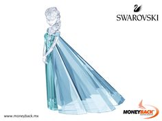 MONEYBACK MEXICO. This spectacular design represents Elsa, the Disney animated hit of 2013, Frozen. Made of glossy transparent crystal and blue glass, the piece demonstrates the exceptional craftsmanship of Swarovski and boasts 329 breathtaking facets. Available only in 2016. Shop in SWAROVSKY and get a Moneyback tax refund! #moneyback www.moneyback.mx