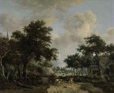 Landschap met vrolijk gezelschap, Meindert Hobbema, ca. 1665