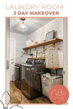 This 2 day laundry room renovation was a long time coming, and it feels so good to be done. Once we finally decided to just do what WE wanted and thought would work for our home and lifestyle and design vibe, it turned into a really fun project! #laundryroommakeover #farmhouselaundryroom #prettylaundryroom
