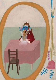 """""""Mirror"""" by shohei morimoto, acrylic gouache, paper 364 x 257 mm 2012"""