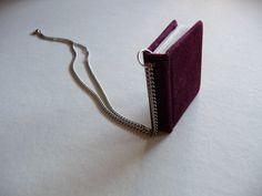 Tiny Velvet Book necklace, $25.00
