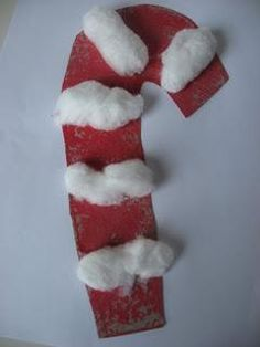 easy Christmas craft--Candy Cane