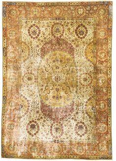 An Avedis Tamishjian Kum Kapi silk and metal-thread rug, Istanbul, Northwest Anatolia | lot | Sotheby's
