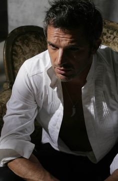 Something about a man in a white shirt!