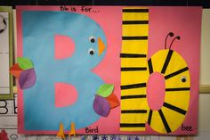 Preschool Letter Bb: Letter B Craft - Bird and bee
