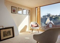 Studio Octopi adds plywood-lined loft extension to house in London Terraced House Loft Conversion, Victorian House London, Upside Down House, New Staircase, Beautiful Interior Design, Loft Spaces, Small Spaces, House Extensions, New Room