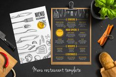 Food menu, restaurant flyer #9 by BarcelonaShop on @creativemarket