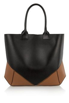 Givenchy Easy tote in black and tan leather   NET-A-PORTER
