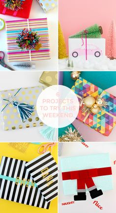 FRIDAY FAVOURITES #74 (& MERRY CHRISTMAS) Creative Gift Wrapping, Creative Gifts, Christmas Crafts, Merry Christmas, Birthdays, Wraps, Friday, Group, Projects