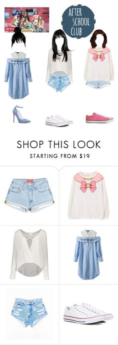 """""""☆Maknae line on ASC☆"""" by girl-gang-official ❤ liked on Polyvore featuring cutekawaii and Converse"""