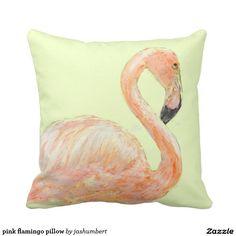 pink flamingo pillow