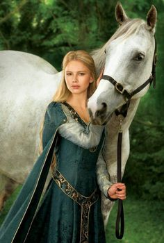 Emma of York and her mare, Thyra (Emma was named after Emma of Normandy; her horse she named after a former Queen of Denmark)