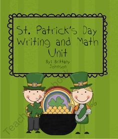 St. Patrick's Day Writing, Art and Math Centers product from Little-Miss-Teacher on TeachersNotebook.com