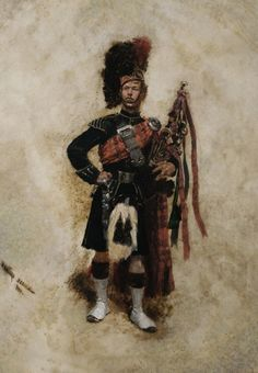 Edouard Jean Baptiste Detaille (French, - Scottish soldier with bagpipes, oil on panel, x 26 cm. Military Art, Military History, Military Fashion, Military Uniforms, Military Style, Scottish Dress, Scottish Man, Edouard Detaille, Scottish Bagpipes