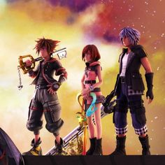 Sora And Kairi, Mickey Mouse And Friends, Kingdom Hearts, Final Fantasy, Anime