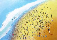 Beach Party is one of a series of Limited Edition Art Prints featuring crowds of people on this web site.The sun is out, the surf is up and the Beach. Gcse Art, Beach Party, Art Prints, Paintings, Artists, Beautiful, Art Impressions, Paint, Fine Art Prints