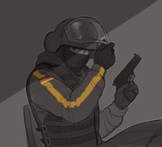 Bandit by zaffyrr on DeviantArt Tom Clancy's Rainbow Six, Rainbow Six Siege Art, Rainbow 6 Seige, Rainbow Six Siege Memes, R6 Wallpaper, Military Drawings, Art Folder, Art Memes, Cs Go