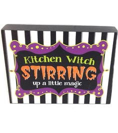 Maker's Halloween Halloween Kitchen Witch Table Sign