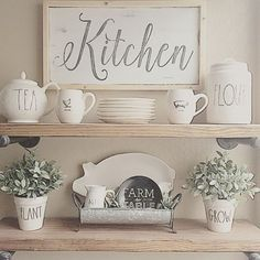 Stunning! We are in love with floating shelves!