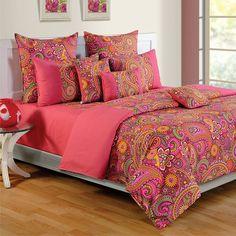 Paisley #Pink Swayam Colors of Life #BedSheets- 2407
