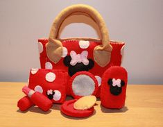Minnie Mouse Felt Purse. $28.00, via Etsy.