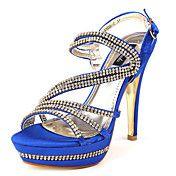Satijnen naaldhak peep toe hakken schoenen (m... – EUR € 41.24
