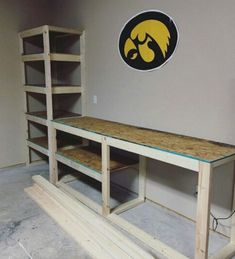 Storage ideas for garage tools and diy storage solutions for garages. Tip Storage ideas for garage tools and diy storage solutions for garages. Tip 15593197 Garage Bench, Diy Garage Storage, Garage Shelving, Storage Ideas, Storage Shelves, Storage Solutions, Garage Tools, Garage Shop, Garage Bar