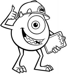 125 best disney monsters inc and monsters university coloring pages